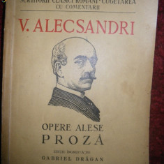 V Alecsandri, Opere alese, Proza, 1946 - Carte de lux