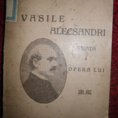 N Zaharia, Vasile Alecsandri Vieata si opera lui, 1919 - Carte de lux
