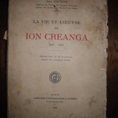 Jean Boutiere, La vie et L'euvre de Ion Creanga, 1930 - Carte de lux