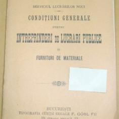 Caile Ferate Romane-CONDITIUNI - lucrari publice-1908 - Carte Editie princeps