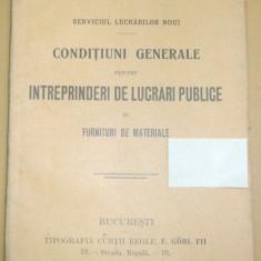 Caile Ferate Romane-CONDITIUNI - lucrari publice-1911 - Carte Editie princeps