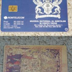 MUZEUL HARTILOR NR. 5 - Cartela telefonica romaneasca