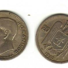 Bnk mnd romania 20 lei 1930 carol, paris - Moneda Romania