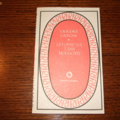 Grigore Ureche - Letopisetul Tarii Moldovei (Seria Patrimoniu) - Carte de aventura