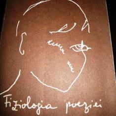 Nichita Stanescu, Fiziologia poeziei, 1990, cu autograf Alexandru Condeescu - Carte de lux