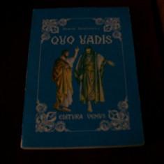 QUO VADIS HENRIK SIENKIEWICZ - Roman, Anul publicarii: 1991