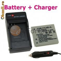Incarcator baterie NB4L/8L + baterie NB4L/8L + expediere gratuita Posta - sell by PHONICA - Incarcator Aparat Foto