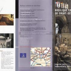 PLIANT BASILIQUE CATHEDRALE DE SAINT-DENIS ILE-DE-FRANCE - Pliant Meniu Reclama tiparita