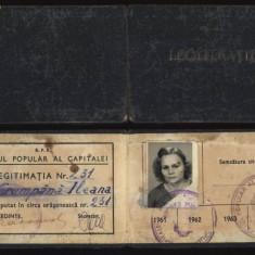 Sfatul Popular al Capitalei, Legitimatie de deputat, 1961 + certificat, Documente