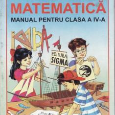 Manual de MATEMATICA CLS A IV A ED. SIGMA, Clasa 4