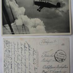 Circulatie militara germana rara , 1940 , stampila oarba , avion , aviatie