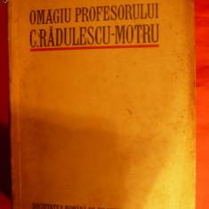 OMAGIU Profesorului C.RADULESCU MOTRU - 1932