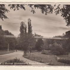 Craiova : Parcul Romanescu - Podul suspendat (1939)
