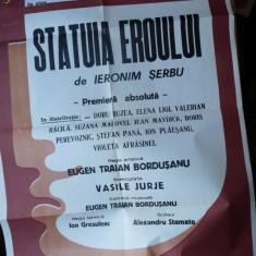 Statuia eroului, de Ieronim Serbu, stagiunea 1981- 82, afis