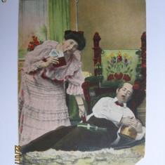 CARTE POSTALA(CROMO-LITOGRFIE)DE COLECTIE ANUL 1907
