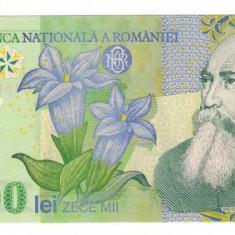 Bancnota 10000 lei polymer Romania 2000 UNC necirculata - Bancnota romaneasca