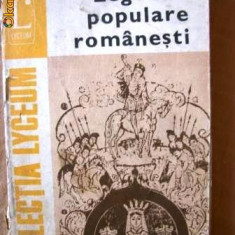 LEGENDE POPULARE ROMANESTI - Carte Antologie
