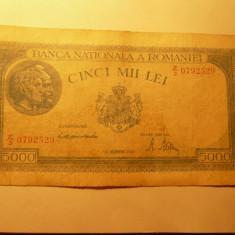 Bancnota 5000 Lei 1944, Mihai I, cal. medie - Bancnota romaneasca