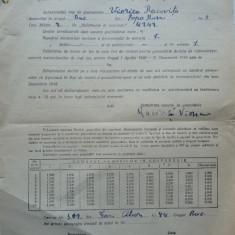 Declaratie pentru obtinerea cartelei de lemne , 1949