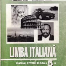 Manual LIMBA ITALIANA CLS a V a ED. LOGOS de A.I. TANASE, Clasa 5, Limbi straine