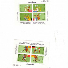 TIMBRE-CE FOTBAL 1984-2 BLOCURI