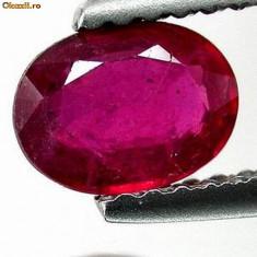 >>>SAFIR NATURAL rosu-purpuriu 0, 81 ct. certificat
