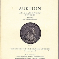 Catalog licitatie 63/1969, Gerhard Hirsch-Munchen