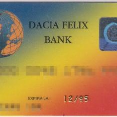 Card bancar Dacia Felix Bank - rar