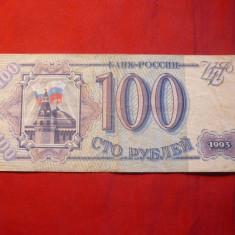 Bancnota 100 Ruble 1993 RUSIA, cal.medie