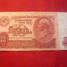 Bancnota - 10 RUBLE, 1961, URSS, cal.medie-buna