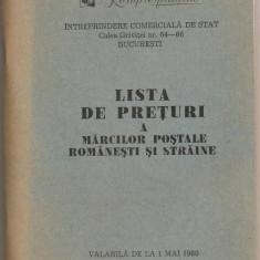 (C154) LISTA DE PRETURI 1980, ROMPRESFILATELIA