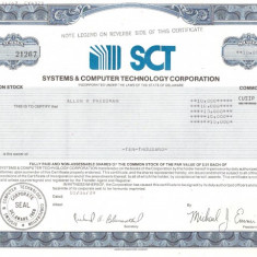 260 Actiuni -SISTEMS&COMPUTER TECHNOLOGY CORPORATION