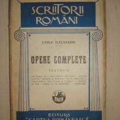 VASILE ALECSANDRI - OPERE COMPLETE * TEATRU volumul 2  {1928}