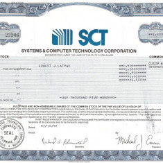 266 Actiuni -SYSTEMS&COMPUTER TECHNOLOGY CORPORATION