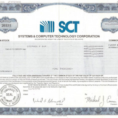 265 Actiuni -SYSTEMS&COMPUTER TECHNOLOGY CORPORATION