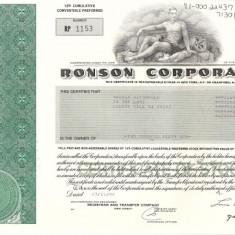 349 Actiuni -RONSON CORPORATION -seria RP 1153