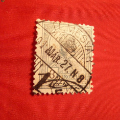 3 Kor.verde-bleu 1900 Fr.Josef, filigram, stamp.Timisoara