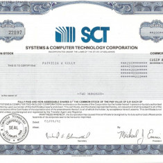 264 Actiuni -SYSTEMS&COMPUTER TECHNOLOGY CORPORATION