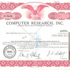 332 Actiuni -COMPUTER RESEARCH, INC. -seria PC 21670