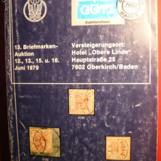 Catalog Filatelic de Licitatie GOTZ  1979