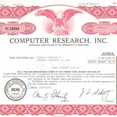 329 Actiuni -COMPUTER RESEARCH, INC. -seria PC 21694