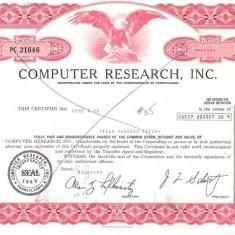 219 Actiuni SUA -COMPUTER RESEARCH, INC.-seria PC 21646