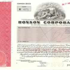 350 Actiuni -RONSON CORPORATION -seria RC 4271