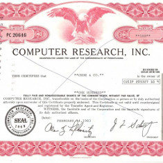 330 Actiuni -COMPUTER RESEARCH, INC. -seria PC 20646