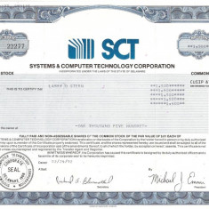 267 Actiuni -SYSTEMS&COMPUTER TECHNOLOGY CORPORATION