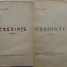 Stefan Octavian Iosif, Credinte, 1927, Editura Alcalay - Carte Editie princeps