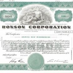 400 Actiuni -RONSON CORPORATION -seria 58245