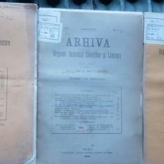 Arhiva , Organul Soc. St. si Lit. , 3 nr. , 1906 , autograful lui A. D.  Xenopol