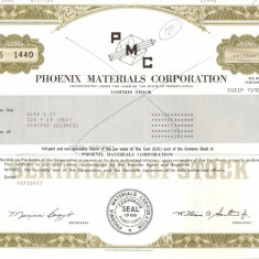 442 Actiuni - PHOENIX MATERIALS CORPORATION -seria S 1440