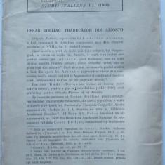 Cesar Bolliac, autograf Dan Simionescu, 1940, adept al miscarii legionare - Carte Editie princeps